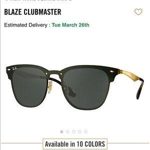 RayBan Blaze Clubmaster Sunglasses